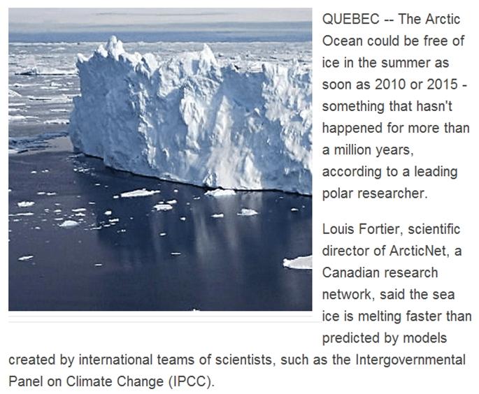 Samtlige profetier om isfrit Arktis i dag er slået fejl.