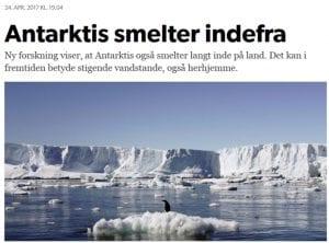 Smelter Antarktis indefra??