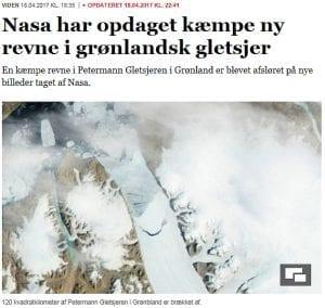 Petermann Gletsjeren: Hvor langt vil medier gå for at skabe historien?